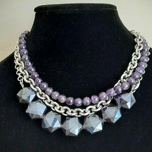 Vintage lia Sophia statement chunky necklace